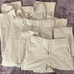 3 Pack Girl's Uniform Pants
